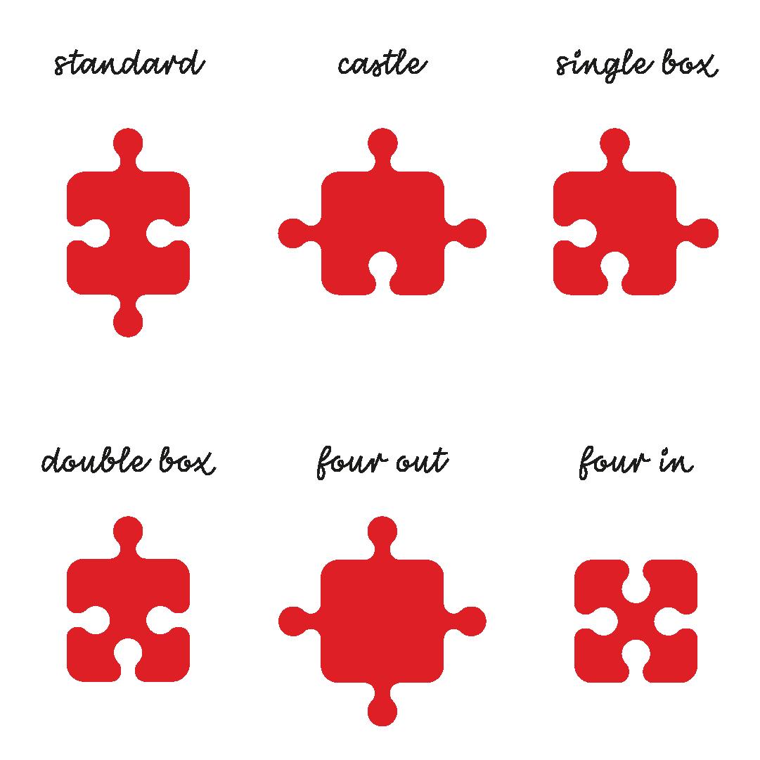 kształty puzzli