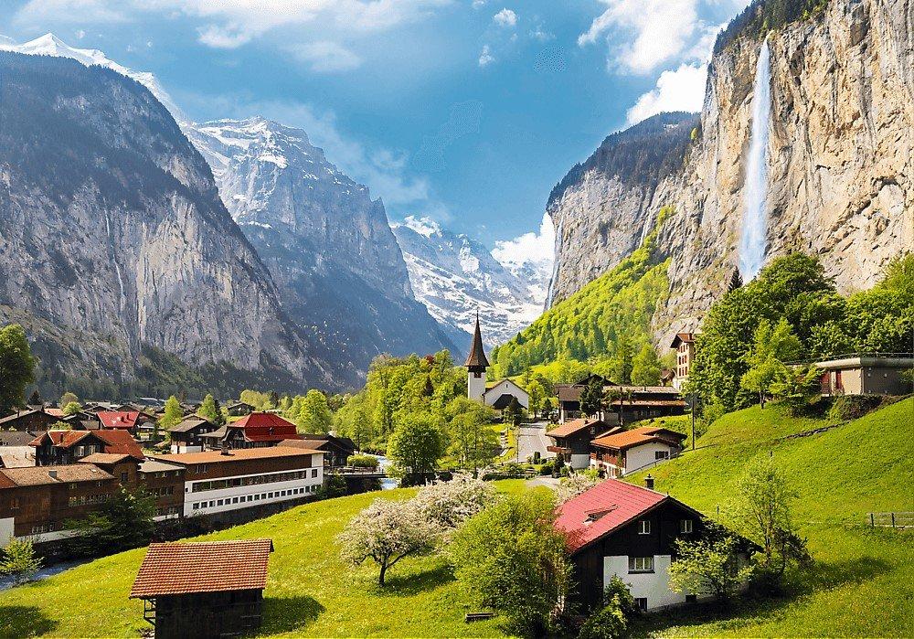 puzzle Lauterbrunnen, Szwajcaria