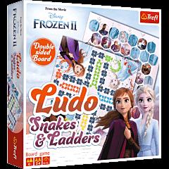 Chińczyk / Węże i drabiny Frozen 2 - klasyczna gra planszowa dla dzieci od Trefl