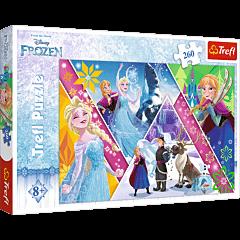 Magiczne wspomnienia, Frozen - puzzle 260 od Trefl