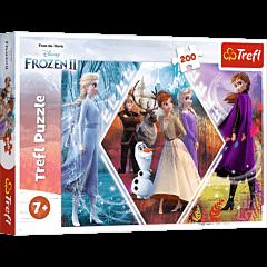 Siostry w Krainie Lodu - puzzle 200 elementów od Trefl