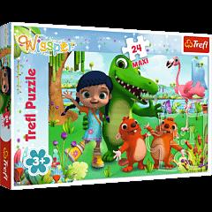 Świat pełen przyjaźni - puzzle 24 maxi od Trefl