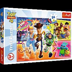 W pogoni za przygodą, Toy Story 4 - puzzle 24 maxi od Trefl