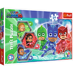 Pidżamersi - transformacja - puzzle 24 maxi od Trefl