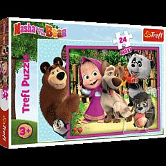 Masza i Niedźwiedź - puzzle 24 maxi od Trefl