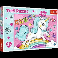 Słodki jednorożec - puzzle 24 maxi od Trefl