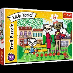 Zabawy Kici Koci - puzzle 24 maxi od Trefl