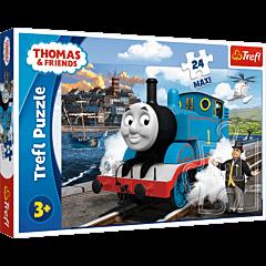 Wesoły dzień Tomka - puzzle 24 maxi od Trefl