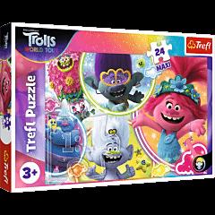 Muzyczny świat Troli - puzzle 24 maxi od Trefl