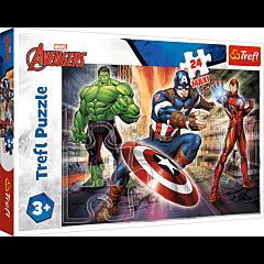 W świecie Avengersów Puzzle 24 MAXI Trefl zdjęcie 1