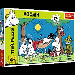 Radosny dzień Muminków - puzzle 24 maxi - zdjęcie 1