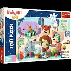 Zabawy Treflików przed snem - Dobranoc, Trefliki na noc - puzzle 24 maxi dla dzieci od Trefl - zdjęcie 1