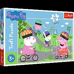 Aktywny dzień Świnki peppy Puzzle 24 Maxi Trefl zdjęcie 1