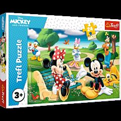 Myszka Miki w gronie przyjaciół Puzzle 24 Maxi Trefl zdjęcie 1
