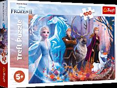 Magia Krainy Lodu - puzzle 100 elementów Frozen 2 od Trefl