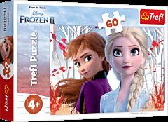 Zaczarowany świat Anny i Elsy - puzzle 60 elementów Frozen 2 od Trefl