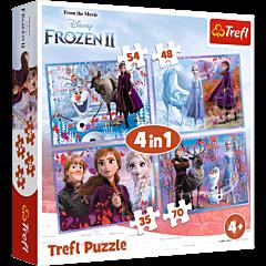Podróż w nieznane - puzzle 4w1 od Trefl
