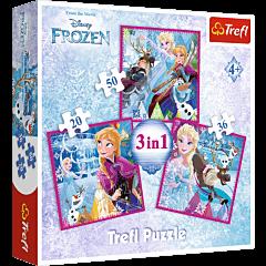 Zimowa magia Puzzle 3w1 Trefl zdjęcie 1