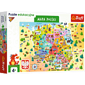 Puzzle edukacyjne - Mapa Polski