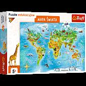 Puzzle edukacyjne - Mapa świata dla dzieci