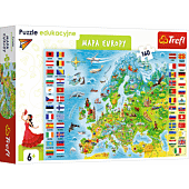 Puzzle edukacyjne - Mapa Europy