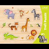 Ramkowe Układanki Kształtowe - Zwierzęta egzotyczne