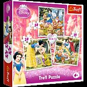 Królewna Śnieżka - Puzzle 3w1