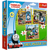 Thomas goes into action - 3-in-1 Puzzles