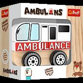 Wooden toy - Ambulance