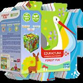 Edukacyjna Układanka Puzzlopianka Forest Fun 5 w 1
