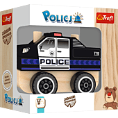 Wooden toy - police car