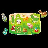 Farma, układanka z kołkami