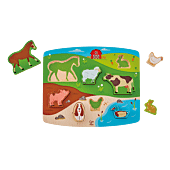 Zwierzęta hodowlane, układanka i zabawa