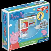 MagiCube Peppa Pig - Podróż z Peppą - klocki magnetyczne 3 el.