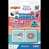Magicube Mix & Match Domy zwierząt - klocki magnetyczne 2 el.