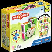 Magicube Printed Owoce + Karty - klocki magnetyczne 7 el.