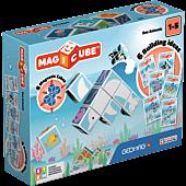 Magicube Printed Zwierzęta morskie + Karty - klocki magnetyczne 11 el.