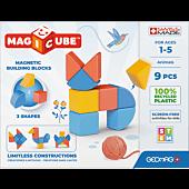 Magicube 3 Shapes Recycled Zwierzaki - klocki magnetyczne 9 el.