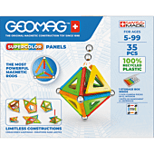 Supercolor Panels Recycled - klocki magnetyczne 35 el.