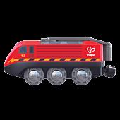 Pociąg zasilany korbą