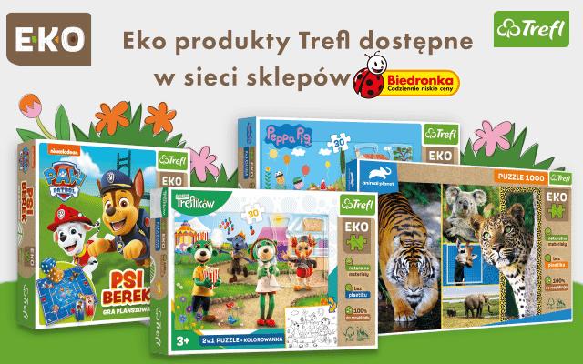 Ekologiczne produkty Trefl dostępne w sieci sklepów Biedronka