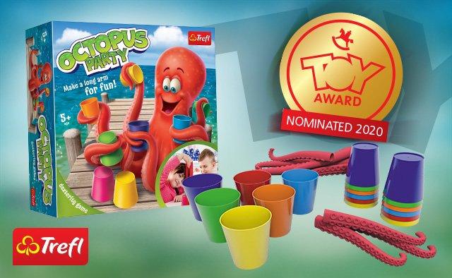 """Gra """"Sprytna Ośmiornica"""" Trefla nominowana do Toy Award 2020"""