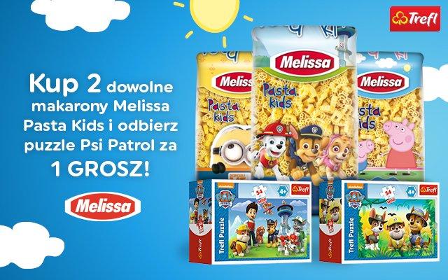 Kup 2 makarony Mellissa i odbierz puzzle Psi Patrol