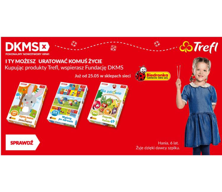 Biedronka, Fundacja DKMS i Trefl promują ideę dawstwa szpiku